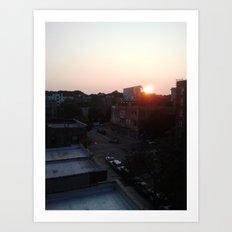 Brooklyn at 7:45pm Art Print