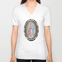 lady V-neck T-shirts featuring Lady by DuckyB