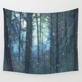 The Woods In Winter Wall Tapestry
