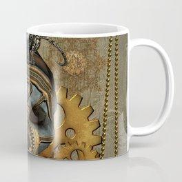 Steampunk, awesome steampunk skull with steampunk rat Coffee Mug