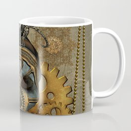 Steampunk, awesome steampunk skull with steampunk rat Coffee Mug