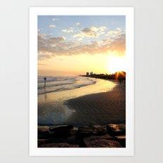 Sunset in Galveston Art Print