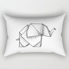 Origami Elephant Rectangular Pillow