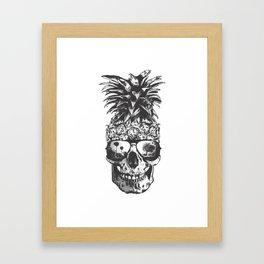 Pineapple Skull Head Framed Art Print