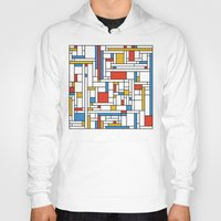 fibonacci Hoodies featuring Mondrian meets Fibonacci by Studio Fibonacci