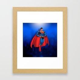 super man Framed Art Print
