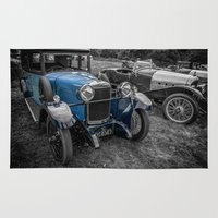 cars Area & Throw Rugs featuring Classic Cars by Adrian Evans