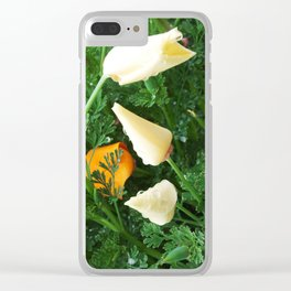 White California Poppies 2014-03-29 16.57.53. Clear iPhone Case