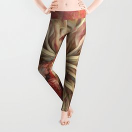 """Rose Gold Flower Bouquet"" Leggings"