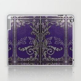 Blue and Silver Thistles Laptop & iPad Skin