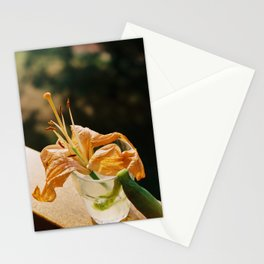 Orange Lily Basking in the Sunlight - Still Life Stationery Cards