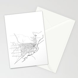 BILLINGS Map Print Stationery Cards
