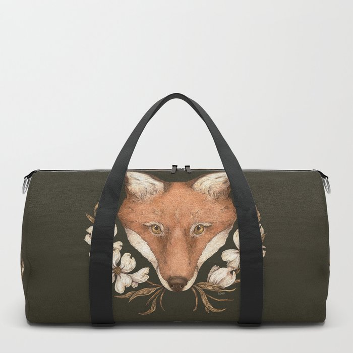 The Fox and Dogwoods Duffle Bag