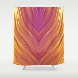 stripes wave pattern 3 lsi Shower Curtain