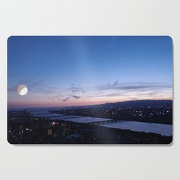 Violet Skies over the Yodo River Cutting Board