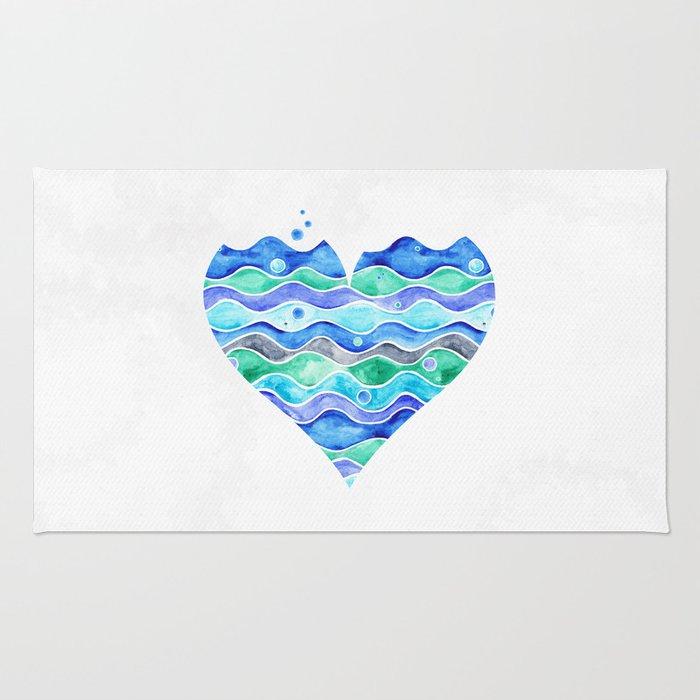 A Sea of Love (white) Rug