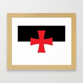Knights Templar Flag Framed Art Print