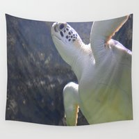 turtles Wall Tapestries featuring Turtles by Irene Jaramillo