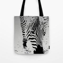 Silver Stripez Tote Bag
