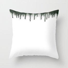 dripping Throw Pillow