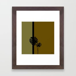 """Minimal retro tiki monstera"" Framed Art Print"
