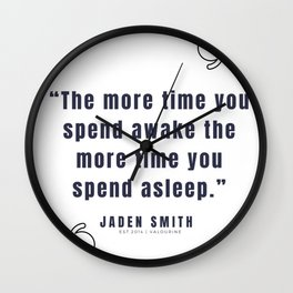 36  |  Jaden Smith Quotes | 190904 Wall Clock