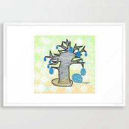 yarn production Framed Art Print