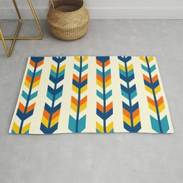 Colorful bohemian aztec arrows rows pattern Rug