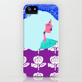 Blue Wallpaper Girl iPhone Case