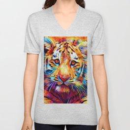 Siberian Tiger Unisex V-Neck