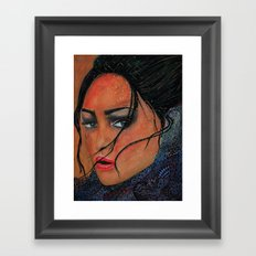 Ice Glance Framed Art Print