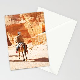 315. The Horseman, Petra, Jordanie Stationery Cards