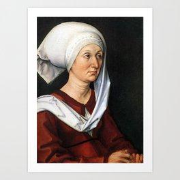 Portrait of Barbara by Albrecht Dürer Art Print
