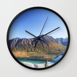 Hiking with a view Wall Clock