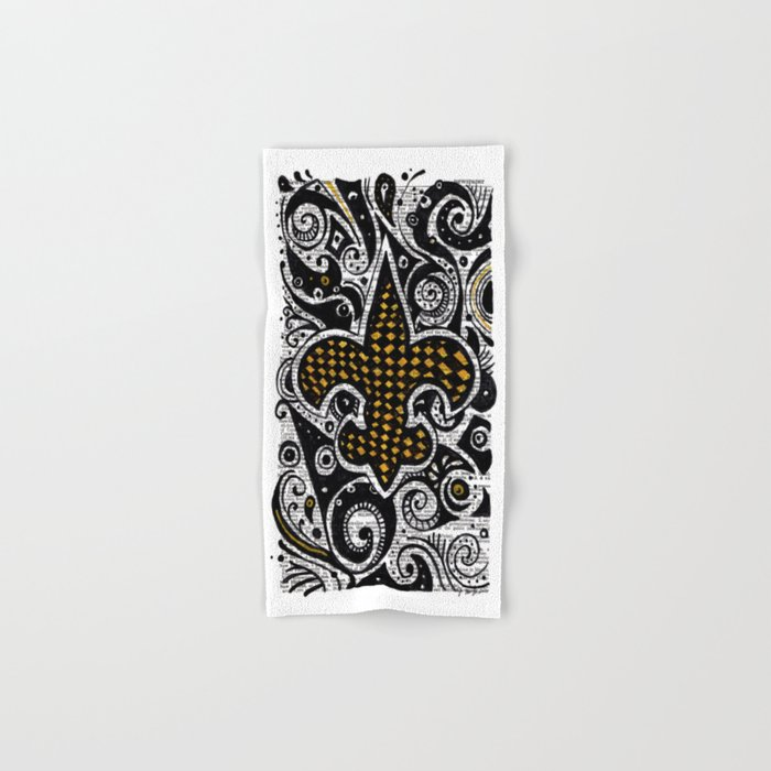 Fleur De Lis Gold Hand Bath Towel By Janinwise Society6