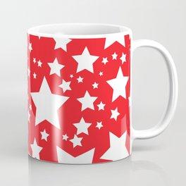 Red with white stars Coffee Mug