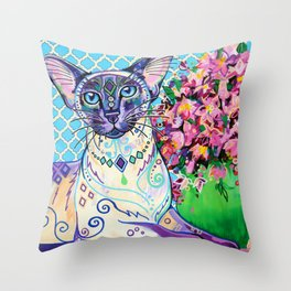 Orient - Siamese Cat Art Throw Pillow