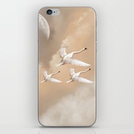 Flying Swans iPhone Skin