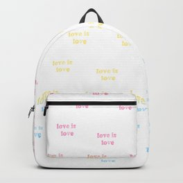 Love is Love / pansexual pride / seamless doodle pattern Backpack