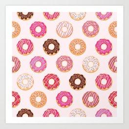 Pink Doughnuts Art Print