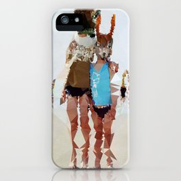 Brother & Sister - Kubistika by Boris Draschoff iPhone Case