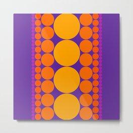 Purple Dots Metal Print