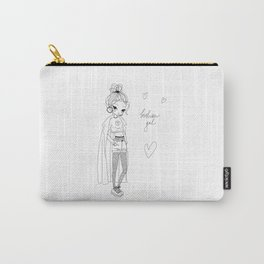 Fashion Gal Line Art Carry-All Pouch