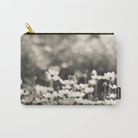 Black and White Daisy Carry-All Pouch