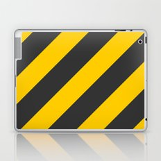 Stripes Diagonal Black & Yellow Laptop & iPad Skin