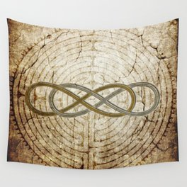 Double Infinity Silver Gold antique Wall Tapestry