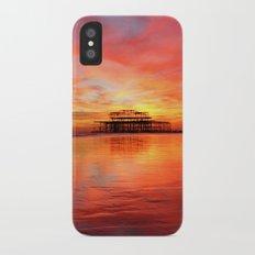Fire in the Sky iPhone X Slim Case