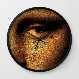 Mona Lisa Eyes 3 Wall Clock