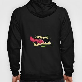 Monster Mouth With Long Tongue Design Hoody