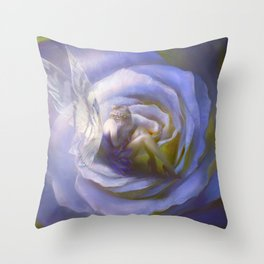 Fairy tale fantasy - purple rose Throw Pillow